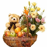 Fruits Flower and Teddy