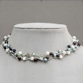 6-6.5 mm Multicolor Pearl Necklace