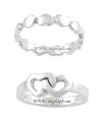 Sterling Silver Knotted Heart Ring