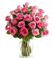 2 Dozen Long Stem Pink Rose Bouquet