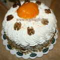 Peach Walnut Torte