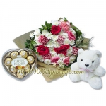 bouquet with bear