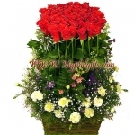 70  Red Rose Basket