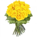 Dark Yellow Rose Bouquet
