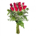 One dozen red rose bouquet