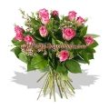 12 Pink Roses Value Bouquet